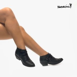 Soda Double Buckle Low Ankle Booties